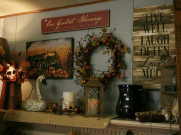 The Farmer's Daughters mantel