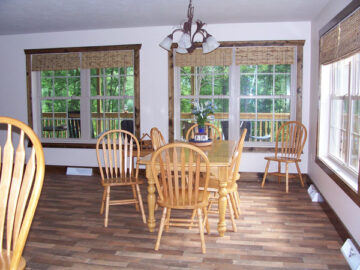 Ludwig's Trailside Bed and Breakfast table