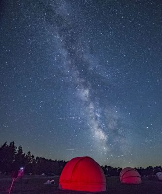 Stargazing in an astrodome at Cherry Springs State Park
