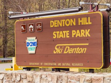 Denton Hill State Park sign