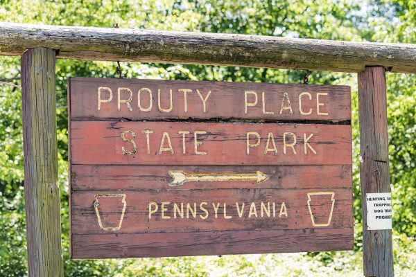 Prouty Place State Park Sign