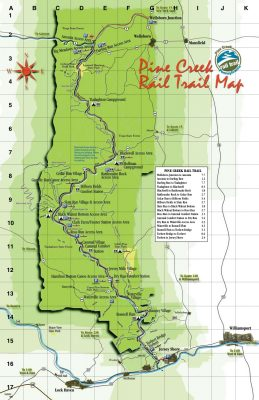 Pine Creek Rail Trail Map
