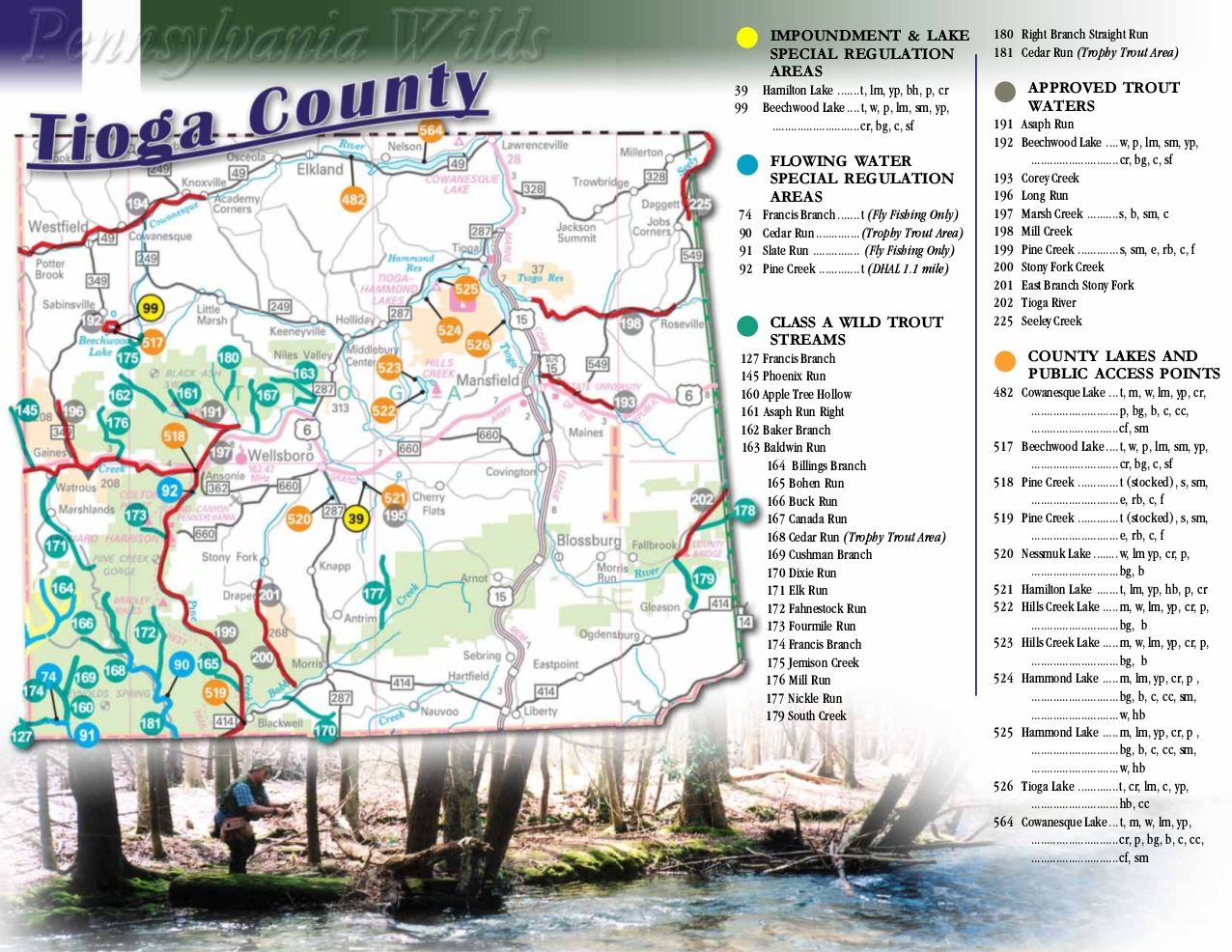 Visit Potter-TIoga Fishing Map