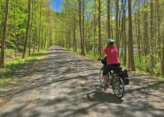 Pine Creek Rail Trail in Tioga County
