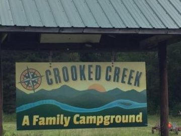 crooked creek campground sign