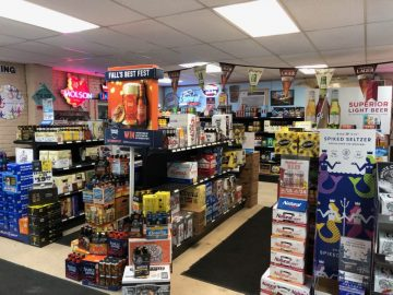 Potter County Beverage interior of the store