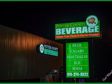 Potter County Beverage Signage