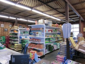 Kaytee's Family Restaurant & Marketplace store shelves