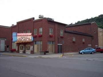 Coudersport Theatre outdoor shot of the building