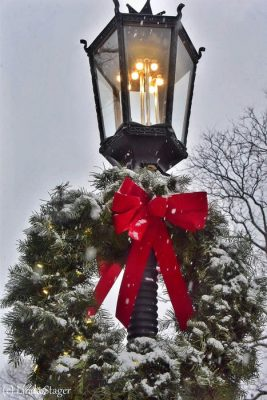 Holiday Light Post in Visit Potter-Tioga