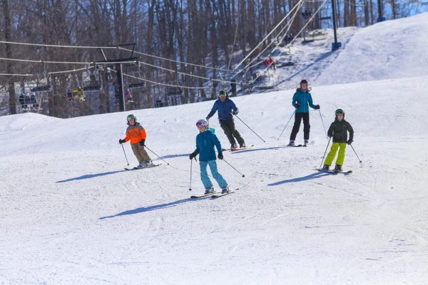 Skiing down the hill in Potter-Tioga County