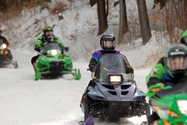 Snowmobilers at Colton Point in Potter-Tioga