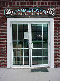 Galeton Public Library Front Door