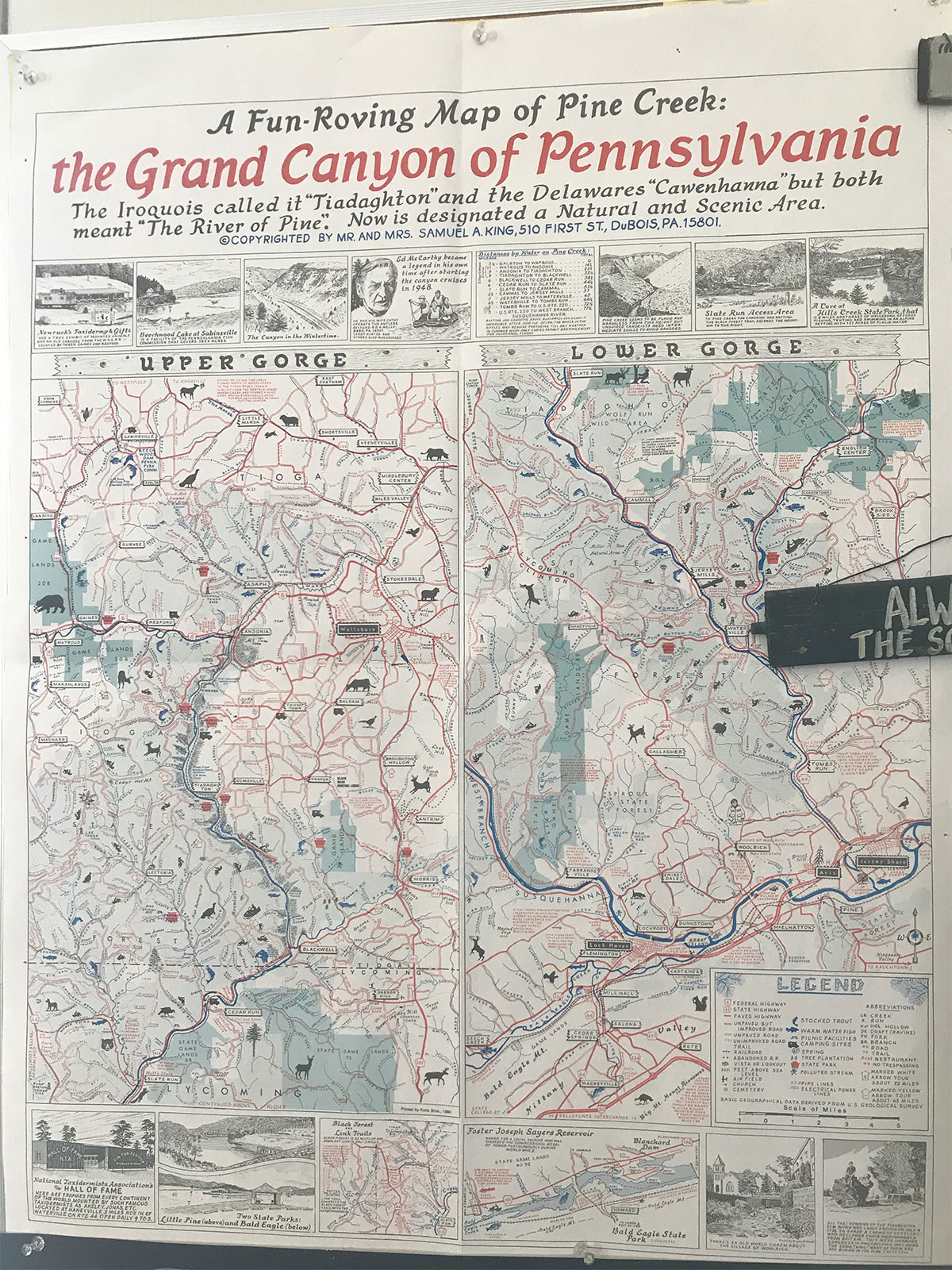 Visit Potter Tioga Historic Map PA Grand Canyon
