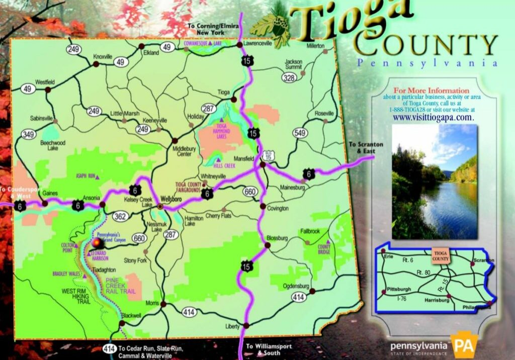Tioga County Map